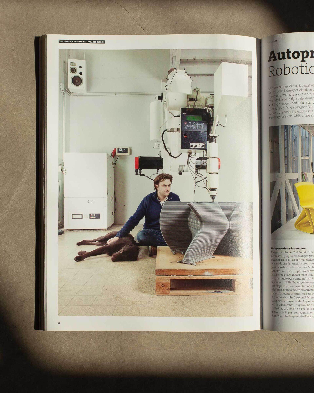 Dirk van der Kooij robotic arm studio