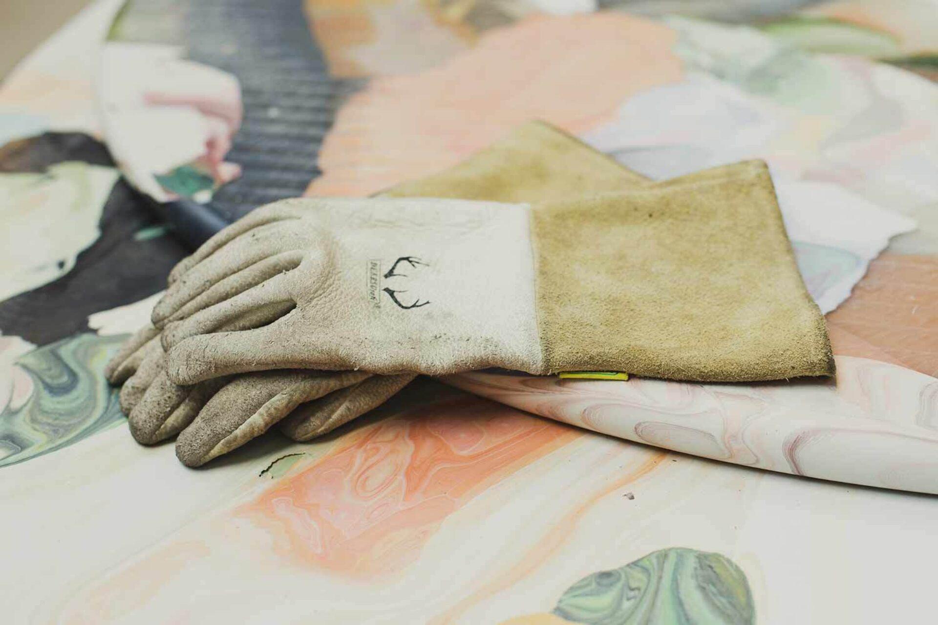 Kooij gloves meltingpot table recycled plastic workshop
