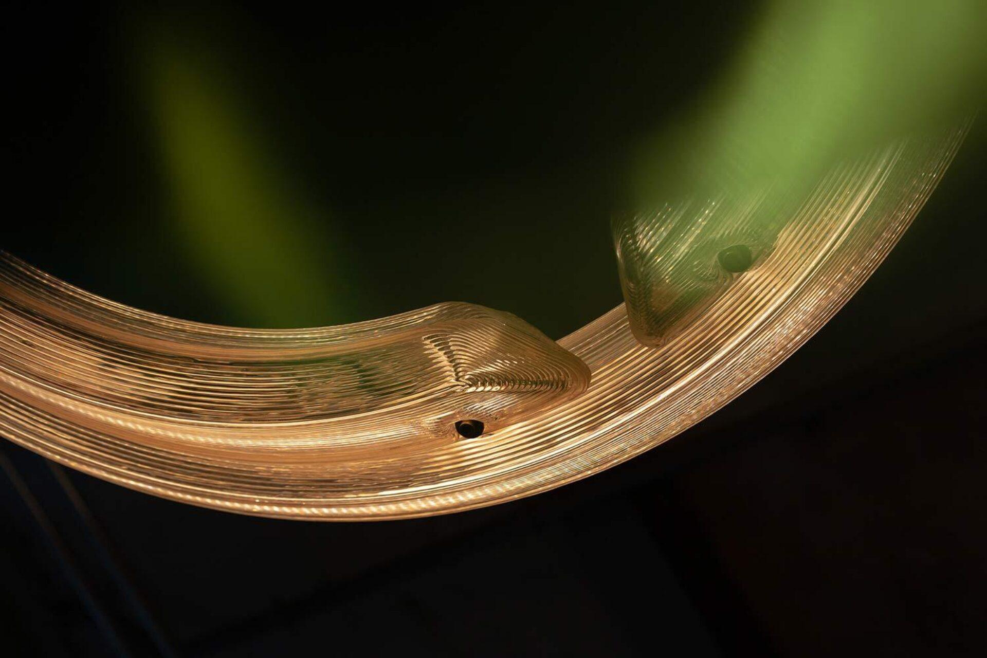 Kooij buitenhuis chandelier arc green recycled plastic lighting