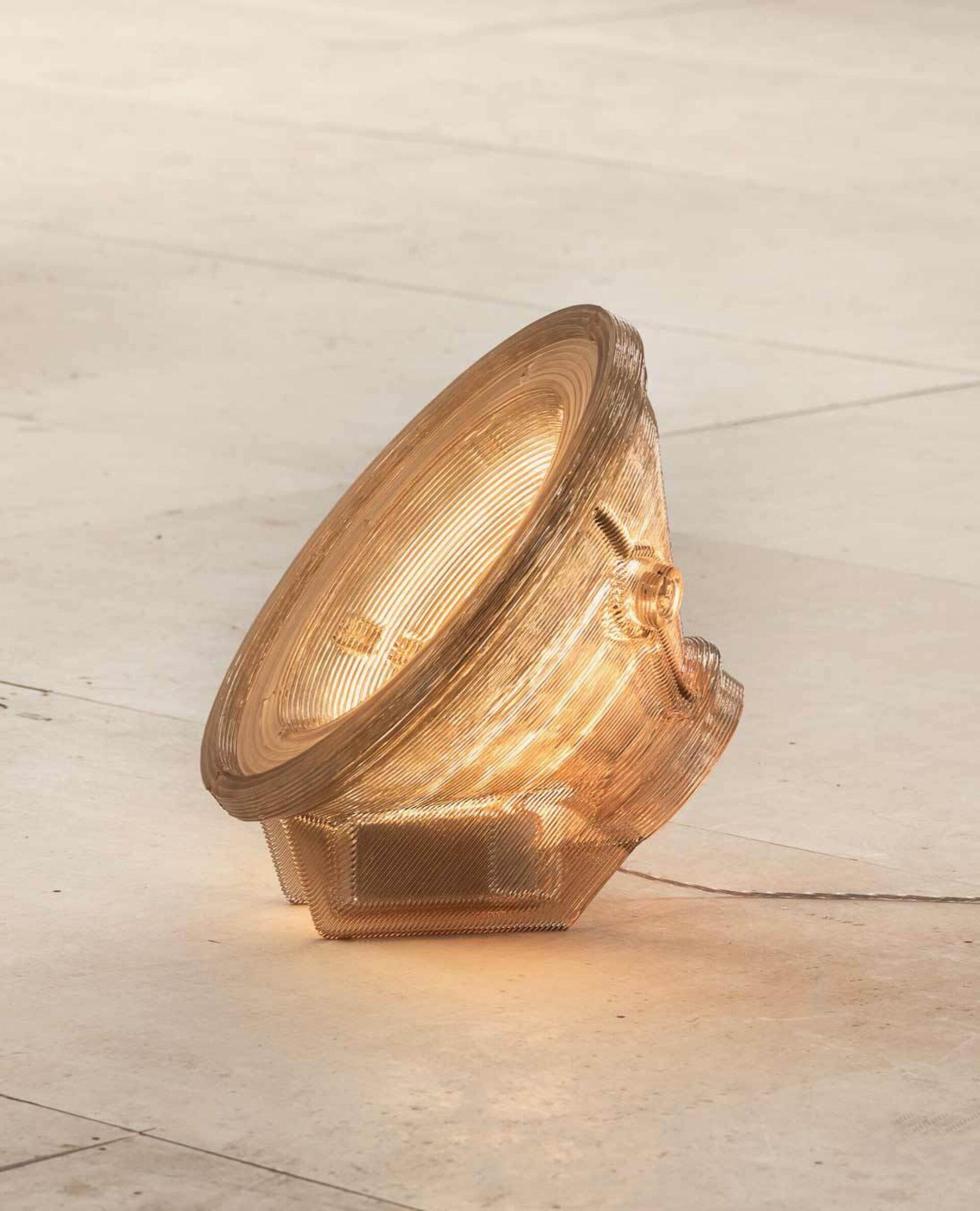 Kooij satellite floor lamp side view recycled plastic lighting