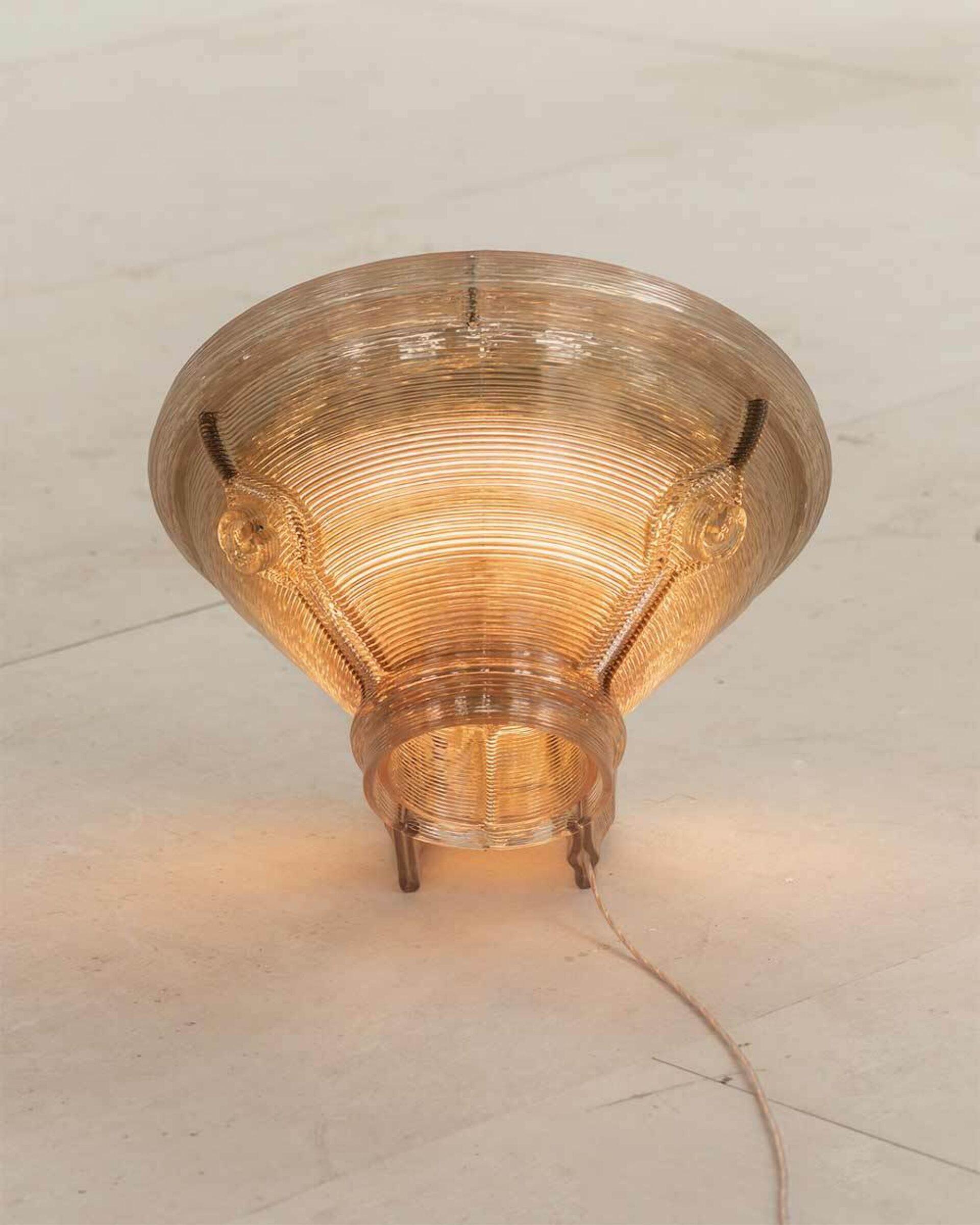 Kooij satellite floor lamp rear view recycled plastic lighting