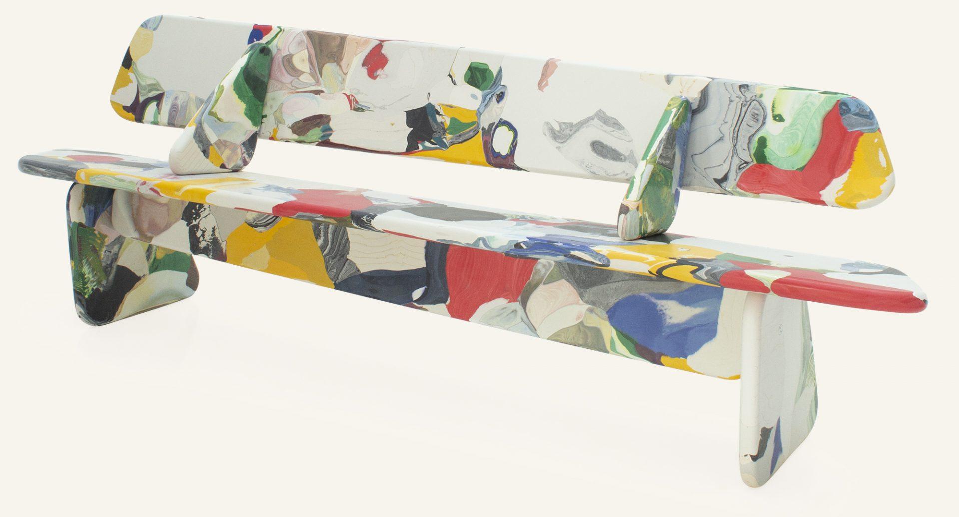 Kooij Menhir Bench Multicolour 240cm