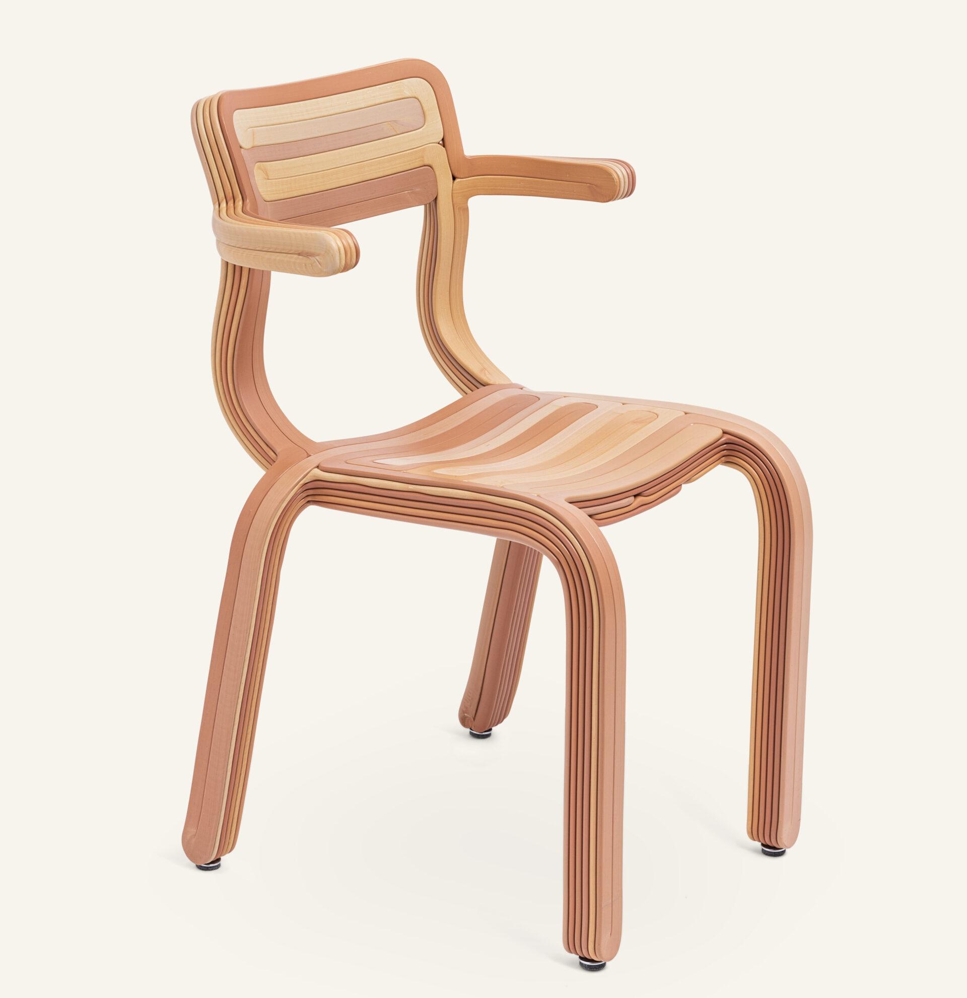 KOOIJ RVR chair Grapefruit designed by Dirk van der Kooij