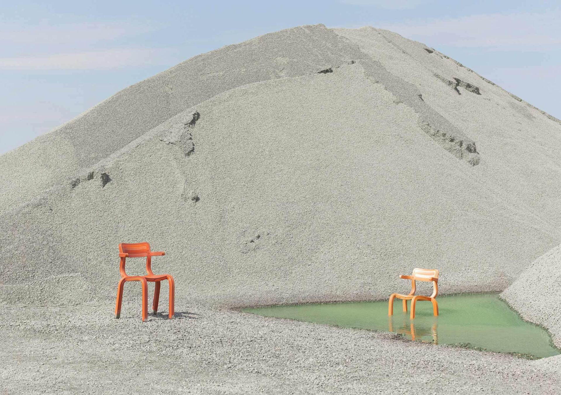 Kooij RVR chairs in sand recycled plastic