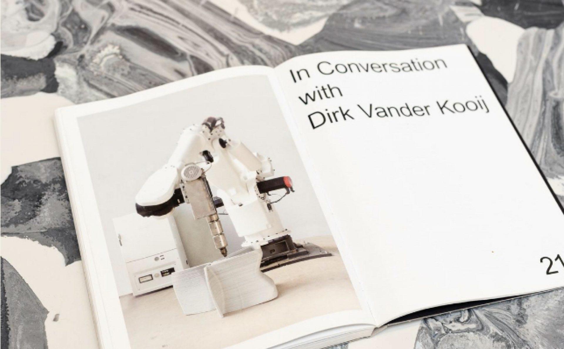 A rare peek at our plastic-extruding robot, photographed in Dirk van der Kooij's studio in 2012