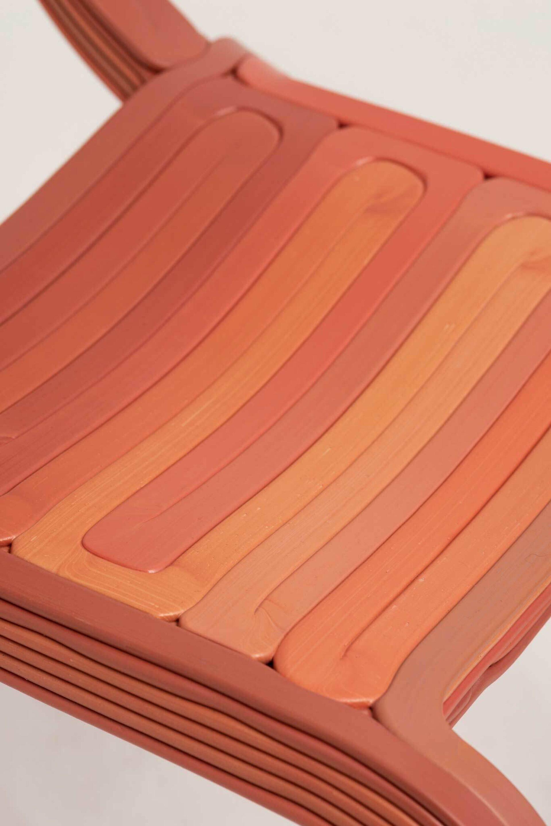 Kooij rvr chair ketchup detail 3d printed recycled plastic